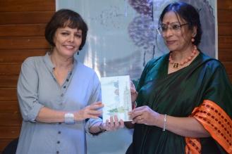 Filmmaker Sooni Taraporewala launches a new book on Japanese style poems [Haikus] by author Usha Purohit